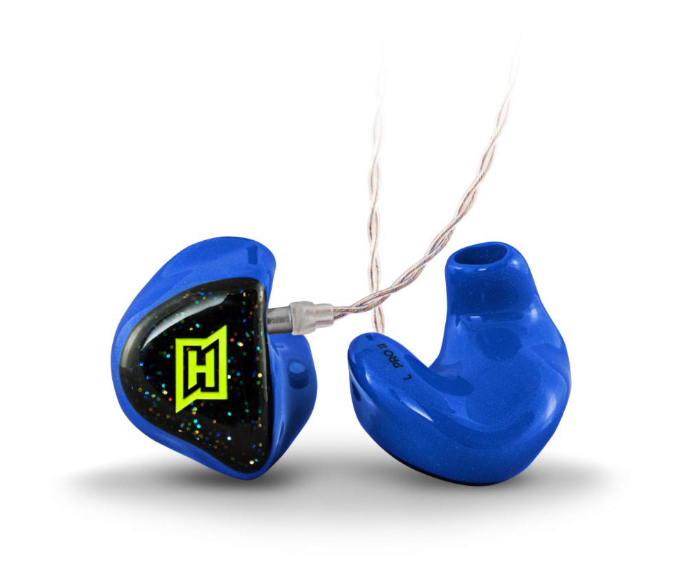 Produktfoto des HEAROS PRO 2. Der HEAROS PRO 2 ist ein angepasster In Ear Kopfhörer und eignet sich für den Einstieg ins professionelle In Ear Monitoring – für satten Sound für Musiker auf der Bühne.