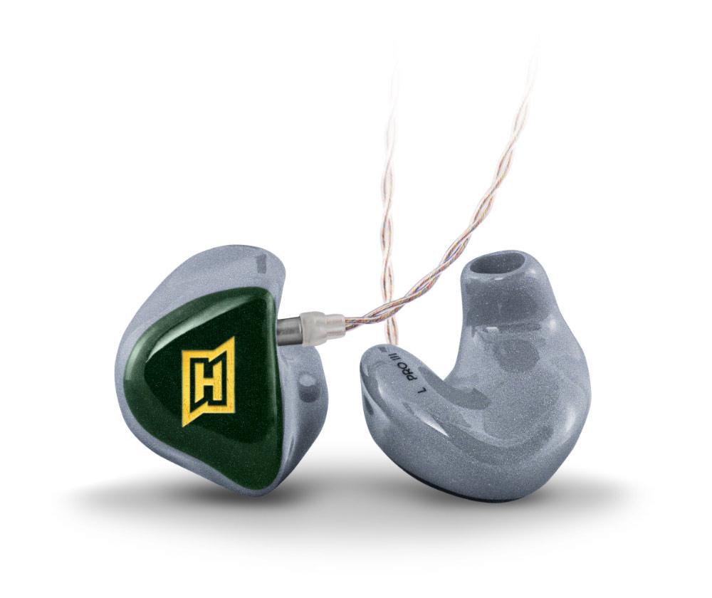 Produktfoto des HEAROS PRO 3. Der HEAROS PRO 3 ist ein angepasster In Ear Kopfhörer und eignet sich für den professionellen Einsatz von In Ear Monitoring auf der Bühne – für satten Sound für Musiker und Musikliebhaber.