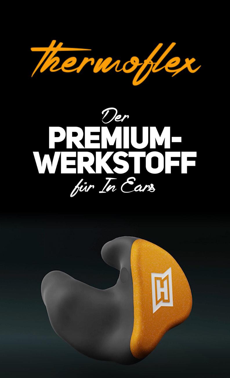 HEAROS Premium Werkstoff Thermoflex – Passt sich deinem Rhythmus an!