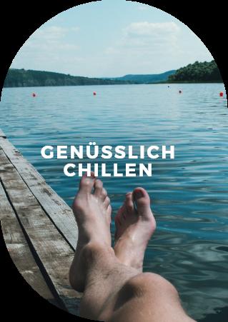 Füße hochlegen und einfach mal am See chillen! Mit dem persönlichen Sound in den Ohren für maximalen Musikgenuss!