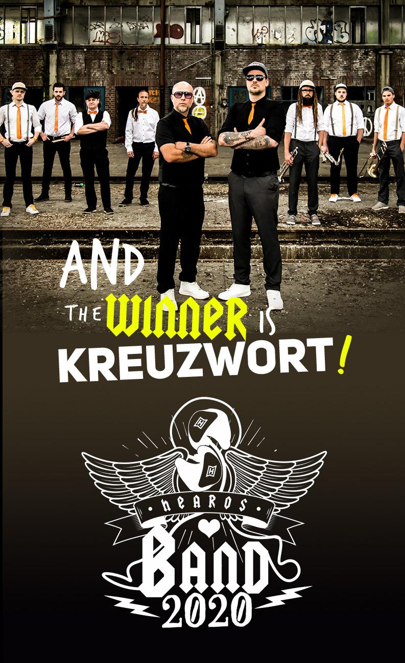 Kreuzwort sind Gewinner des HEAROS Band Contests.
